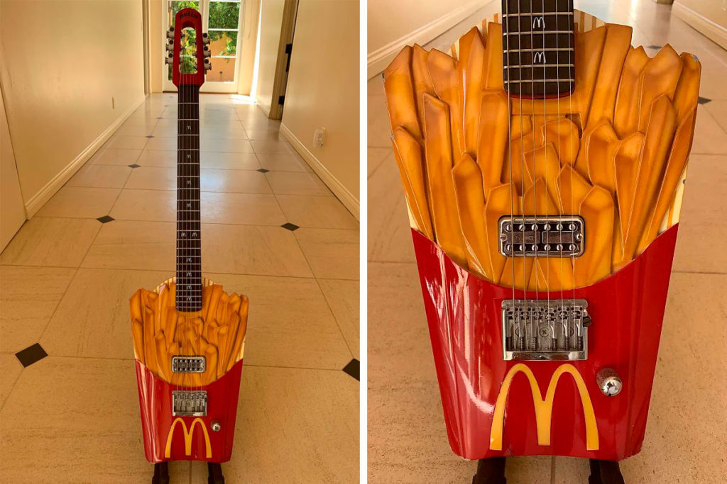 Custom French Fry Electric Guitar