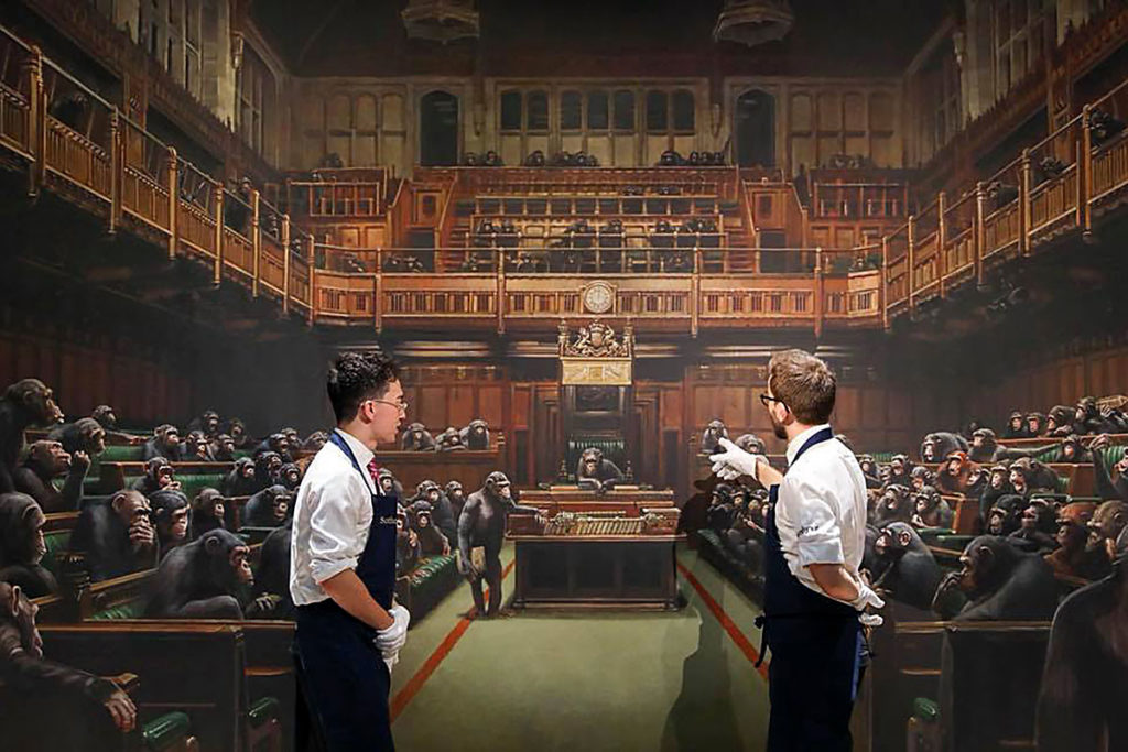 Devolved Parliament by Banksy Sold