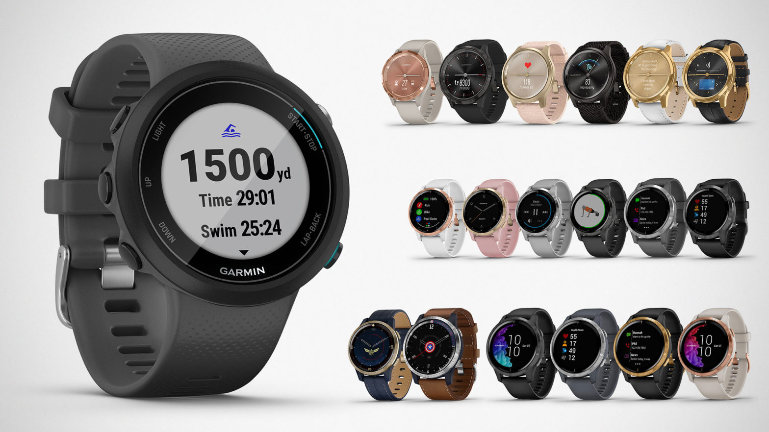 Garmin Swim 2 and Other New Smartwatches