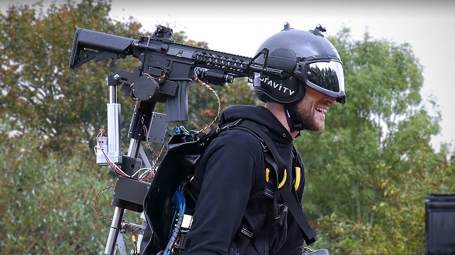 Jet Suit with Head Tracking Airsoft Gun