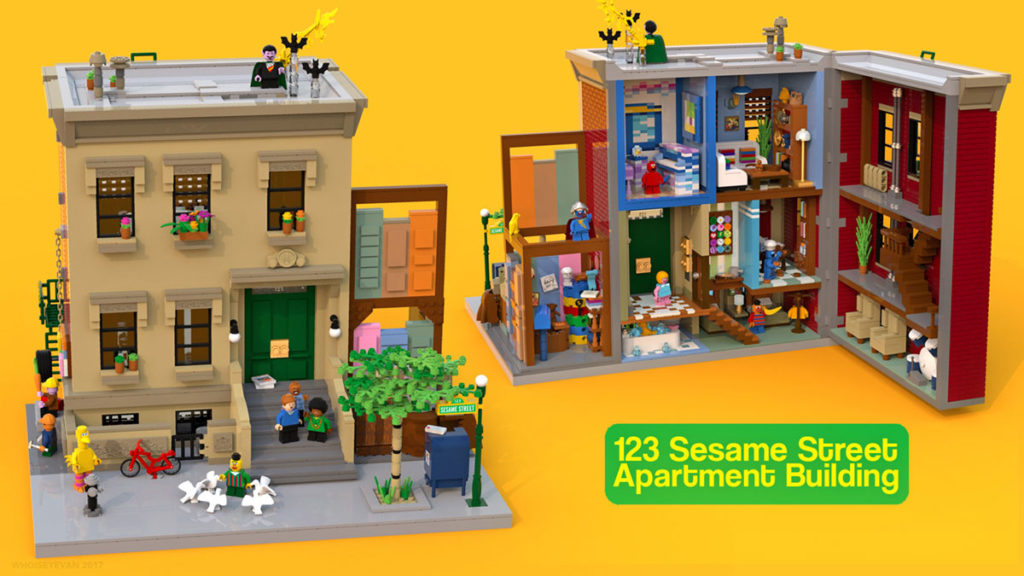 LEGO Ideas 123 Sesame Street by Ivan Guerrero