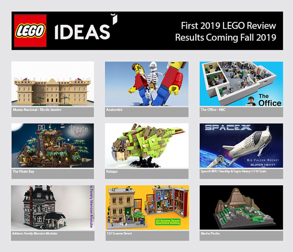 LEGO Ideas First 2019 Review Results