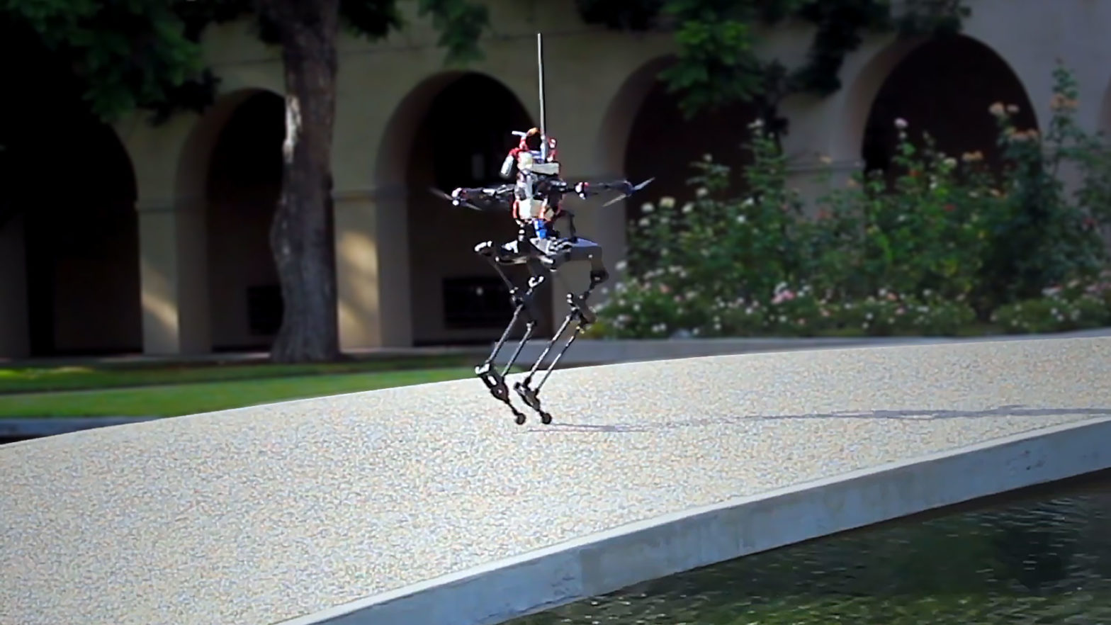 LEONARDO Bipedal Robot with Thrusters