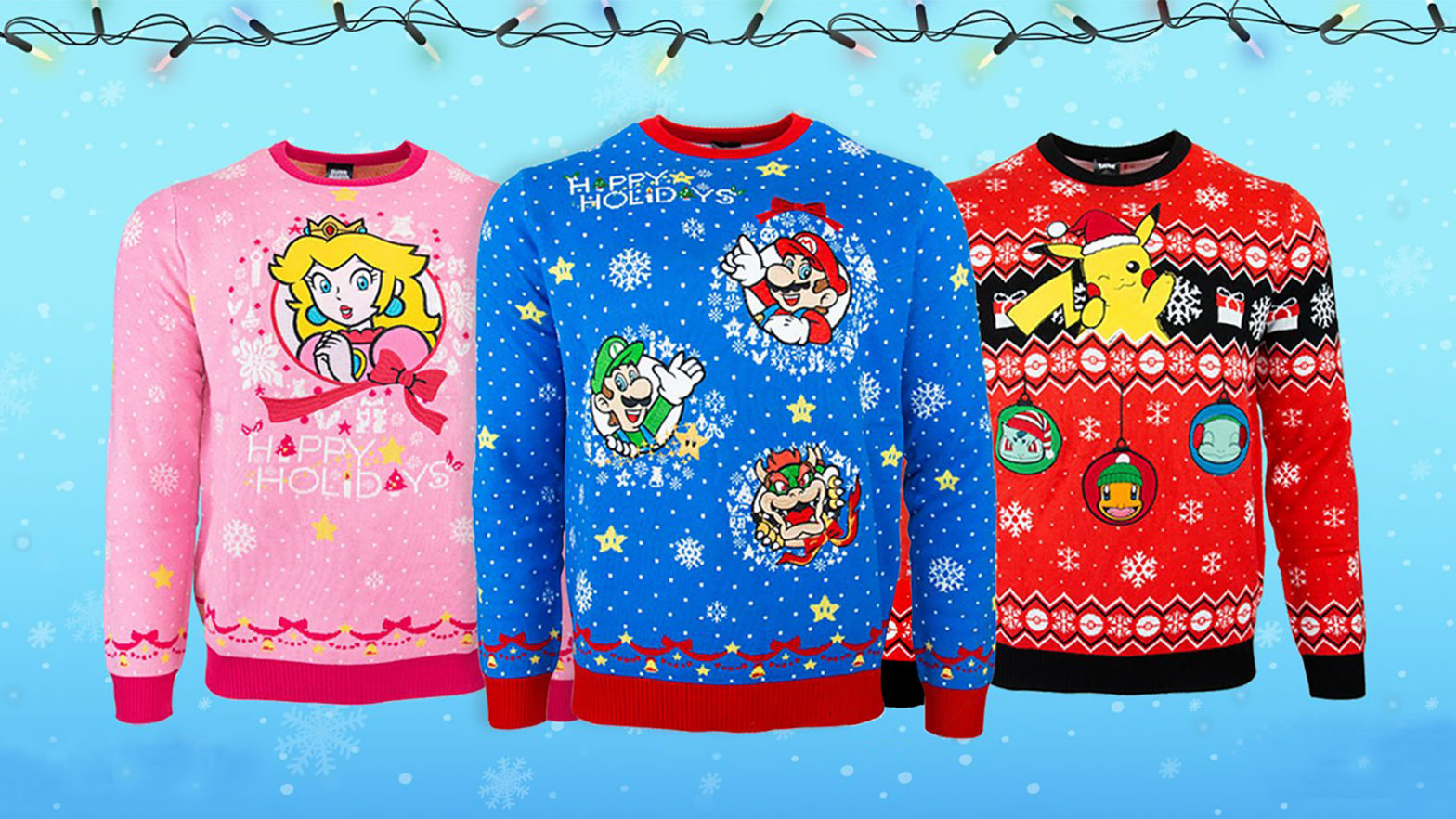 Official Nintendo Ugly Xmas Sweaters