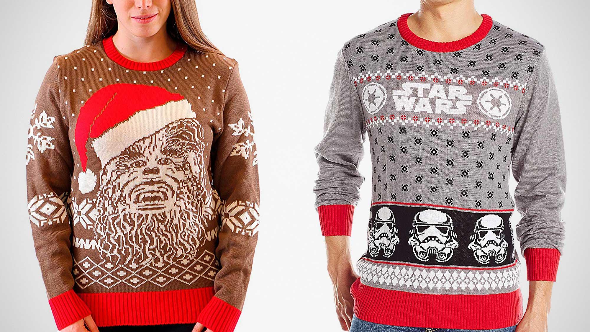 NEW Official Star Wars Luke Vs Darth Christmas Jumper Ugly Sweater