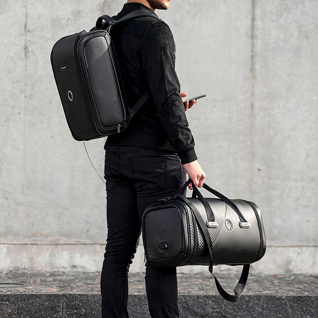 Plevo Smart Backpack and Duffle Bag