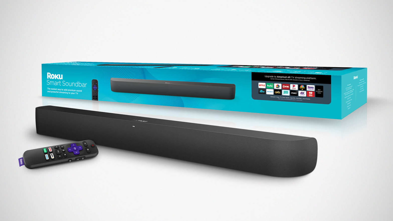 Roku Smart Soundbar and Wireless Subwoofer