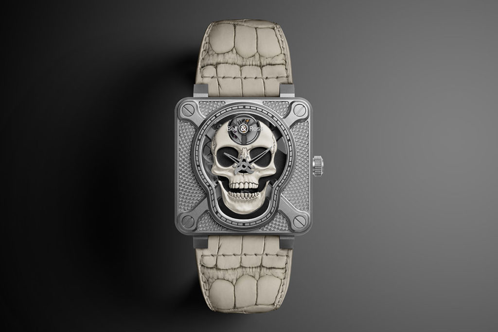 Bell & Ross BR 01-92 Laughing Skull White
