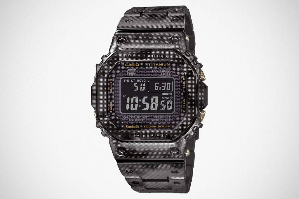 Casio G-Shock GMWB5000TCM-1 in Camouflage Print