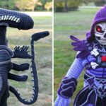 Ohio Mom Crocheted Alien And Skeletor Costumes For Son To Choose