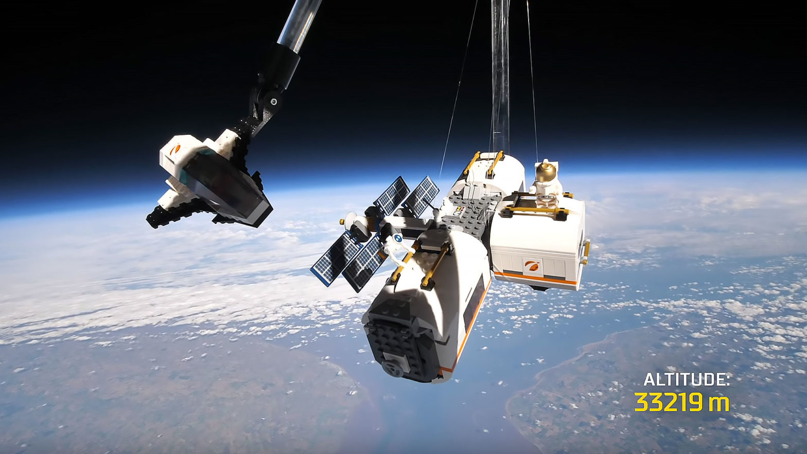LEGO City Lunar Space Station in Space