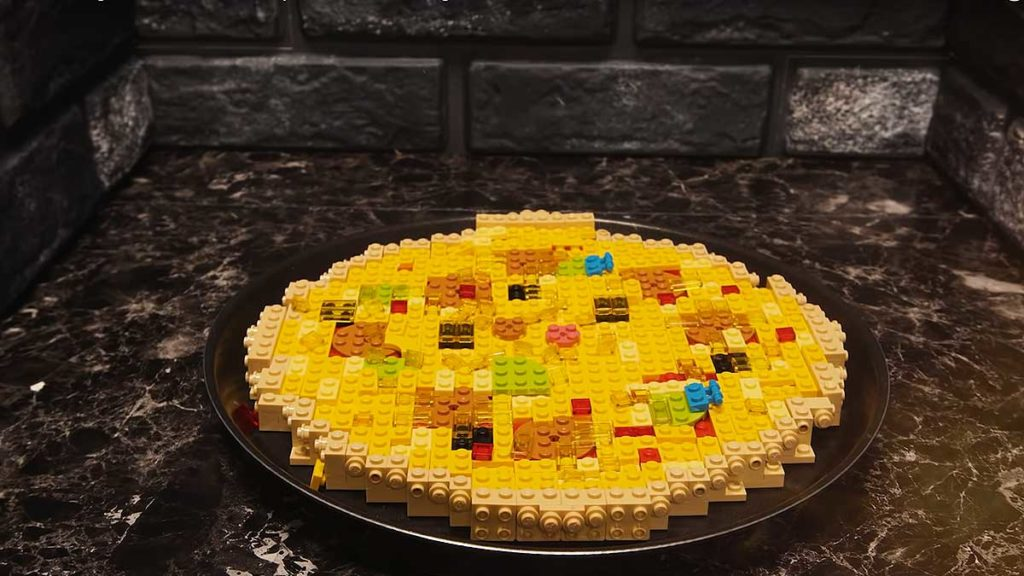 LEGO Pizza Stop Motion Cooking