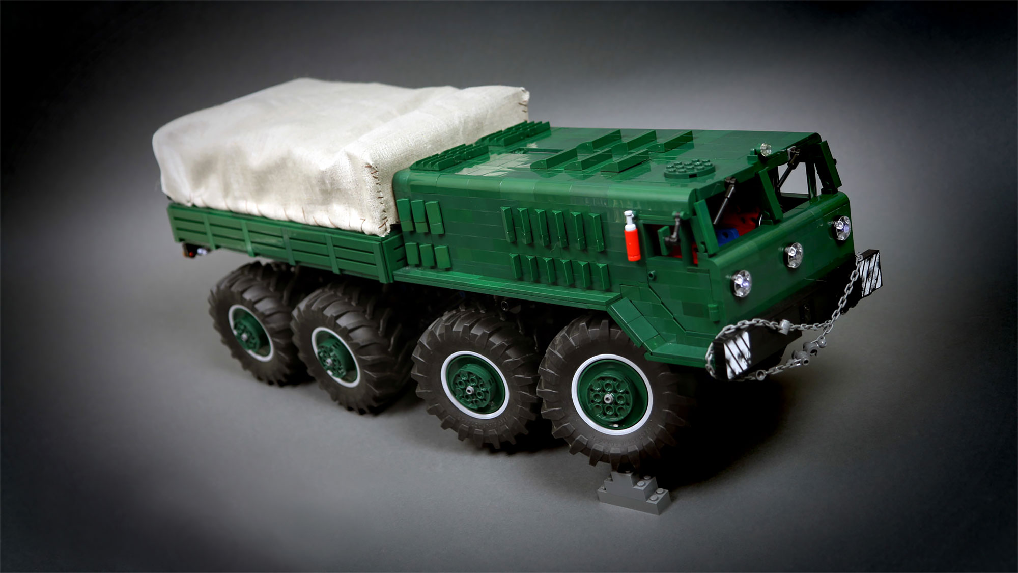 Believe It Or Not This Rc Maz 535 8x8 Truck Is A Lego Technic Moc Shouts