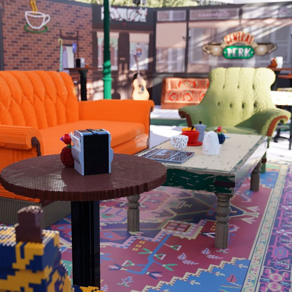 Life-size LEGO Replica of Friends' Central Perk