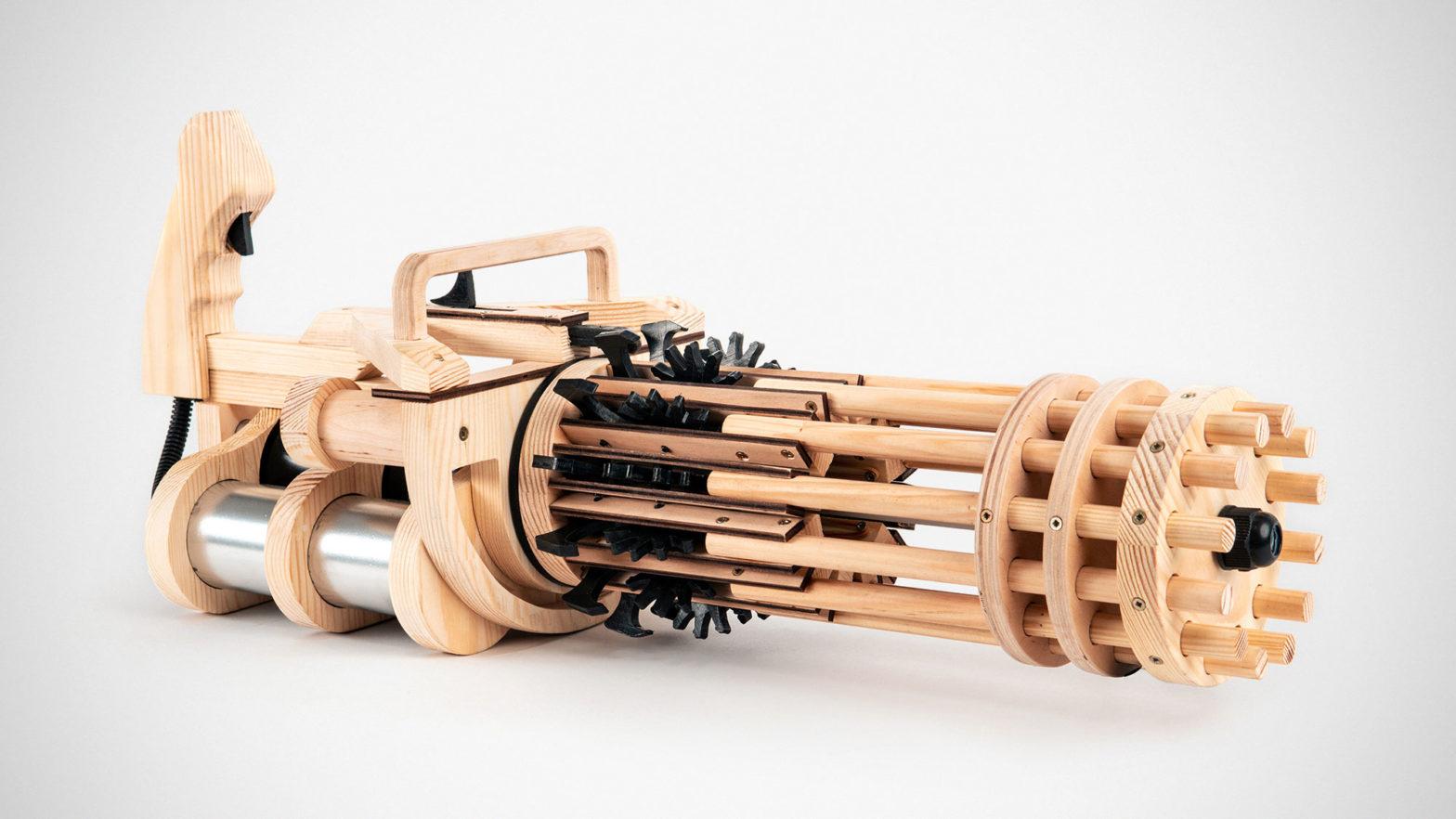 Weaponized T-Rex Rubber Band Minigun