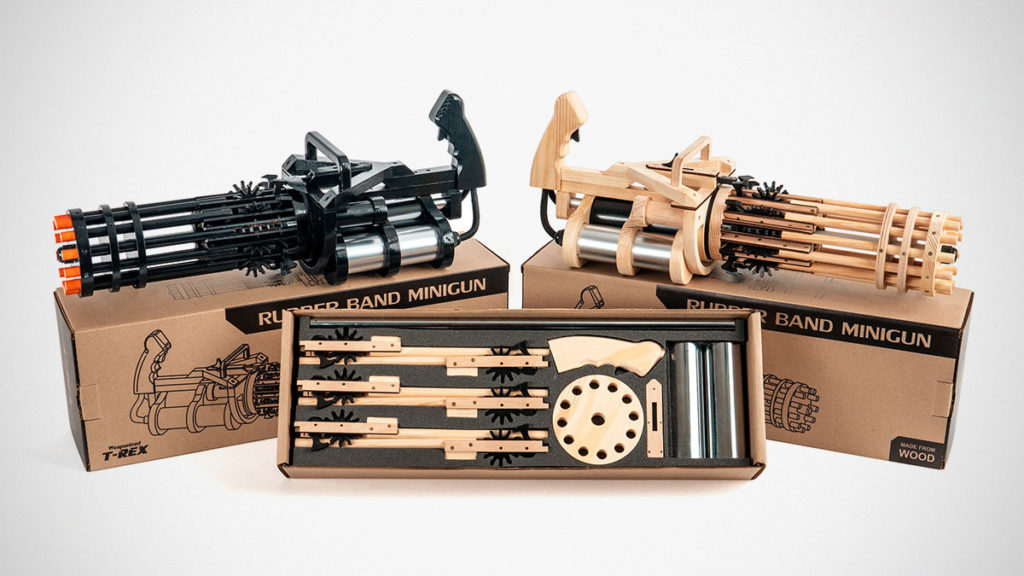 Weaponized T-Rex Rubber Band Minigun