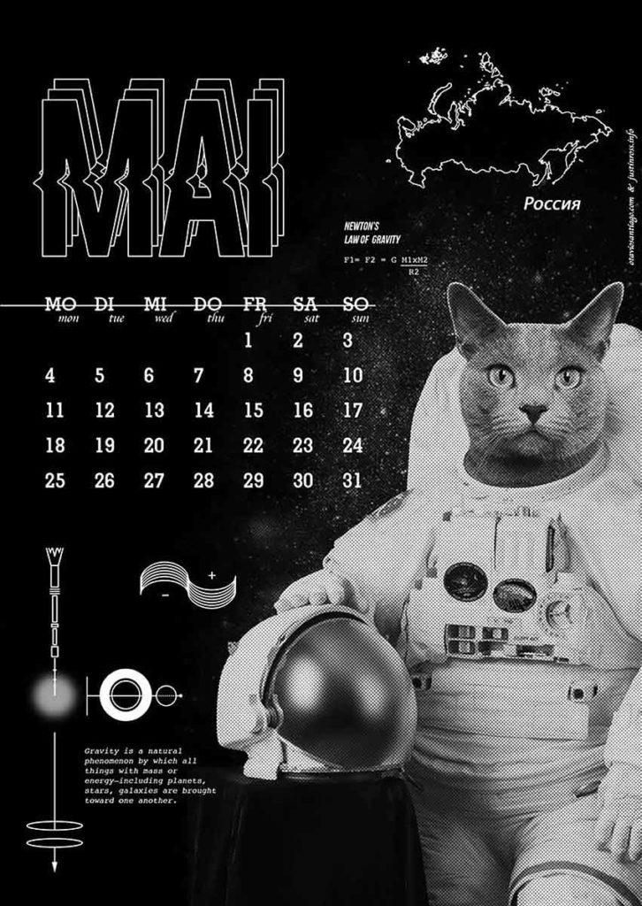 2020 Pets Space Journey Calendar