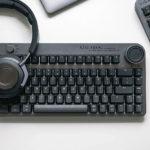 Meet Azio Fokal, A Retro-Futuristic Mechanical Keyboard With A Nifty Control Knob