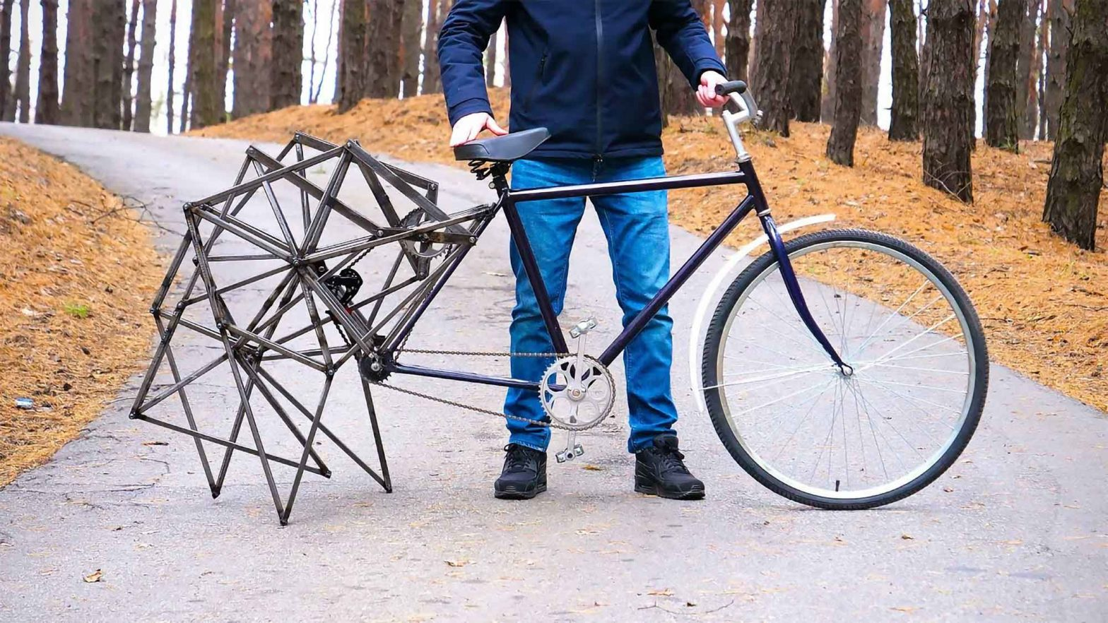 Bicycle with Mechanical Walking Legs by The Q