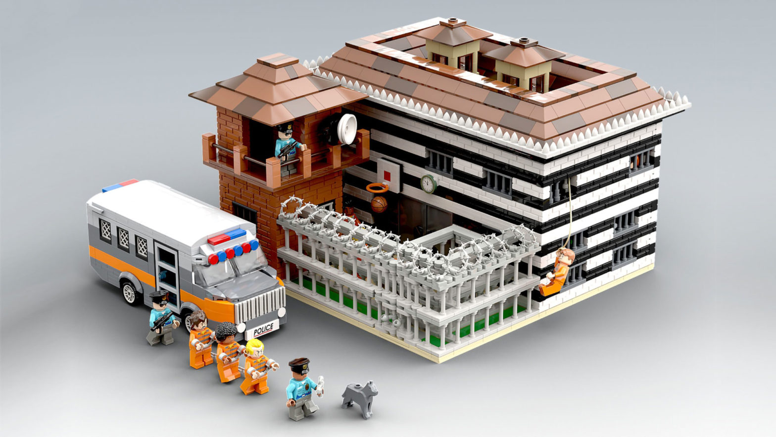 Custom LEGO Maximum Security Prison Set