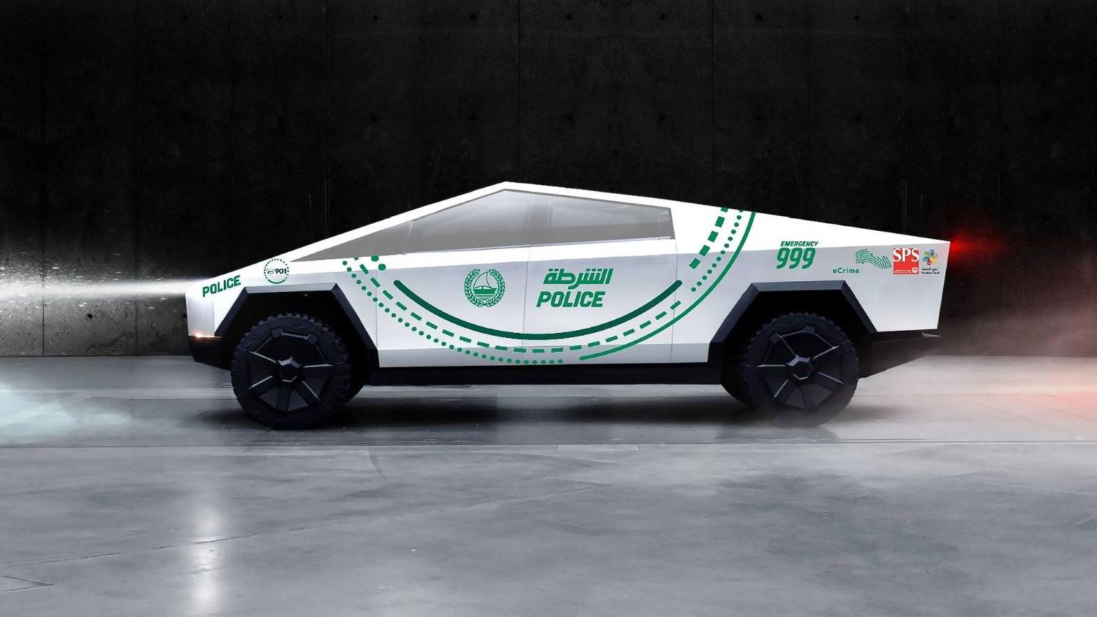 Dubai Police Tesla Motors Cybertruck