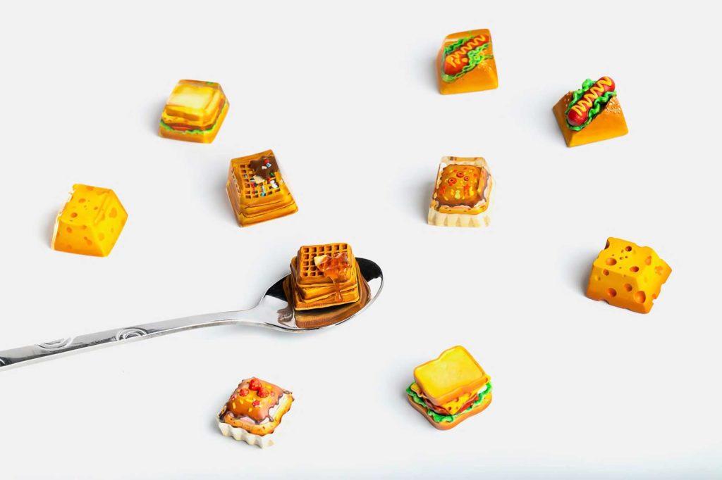 Dwarf Factory Foodie Artisan Keycaps