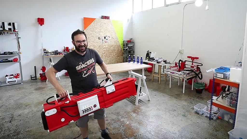Ivan Miranda World's Largest NERF Gatling Gun