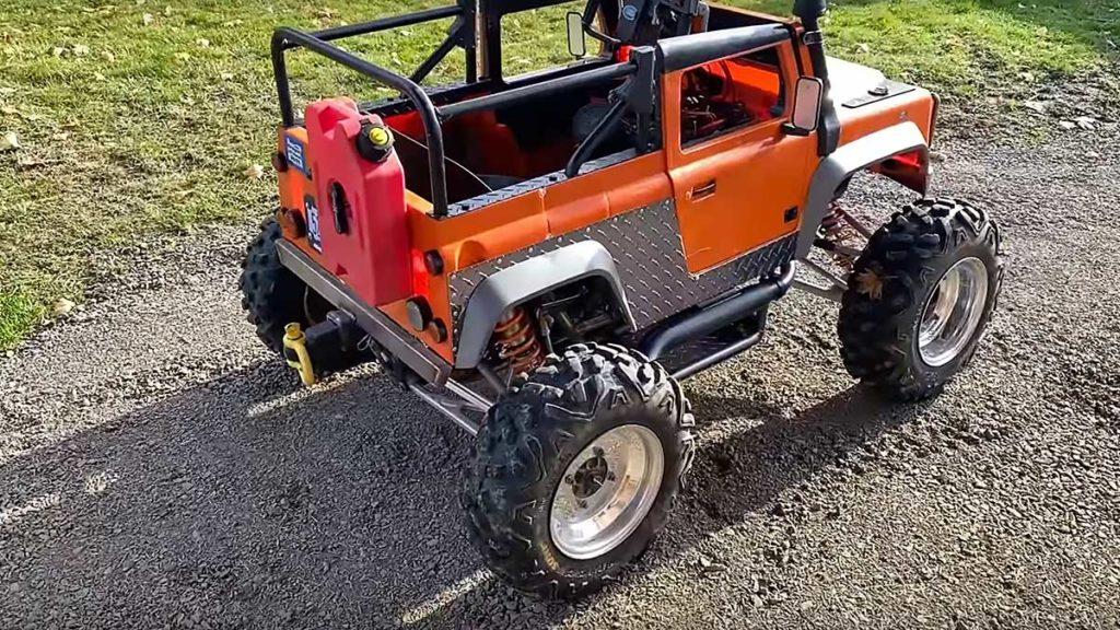 Kid Trax Land Rover Defender Motor Swap