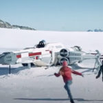 LEGO Marks 20 Years Of <em>Star Wars</em> By Putting A Life-size X-Wing On Top Of A Snowy Mountain