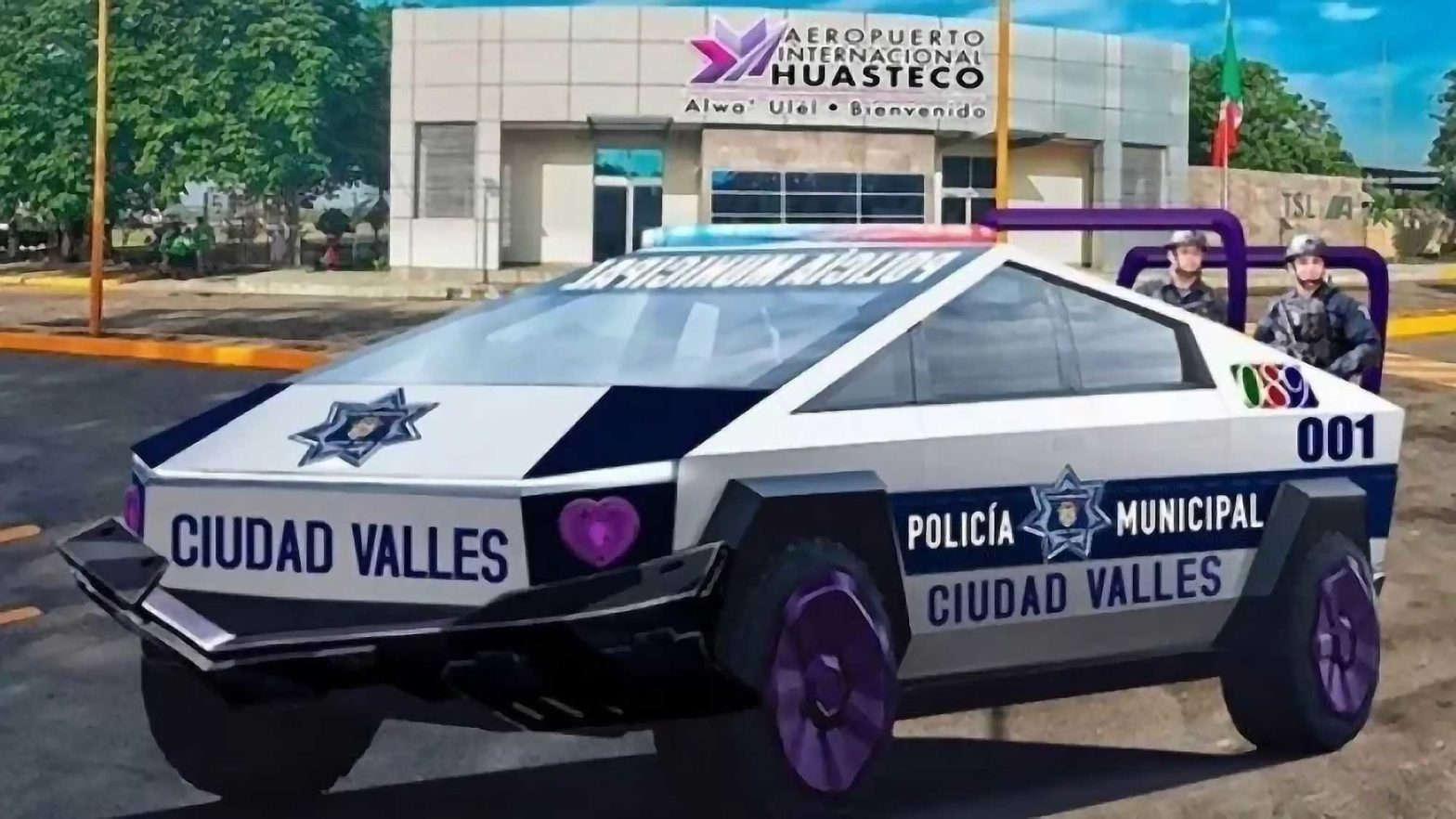 Mexican City Police Force Tesla Cybertruck