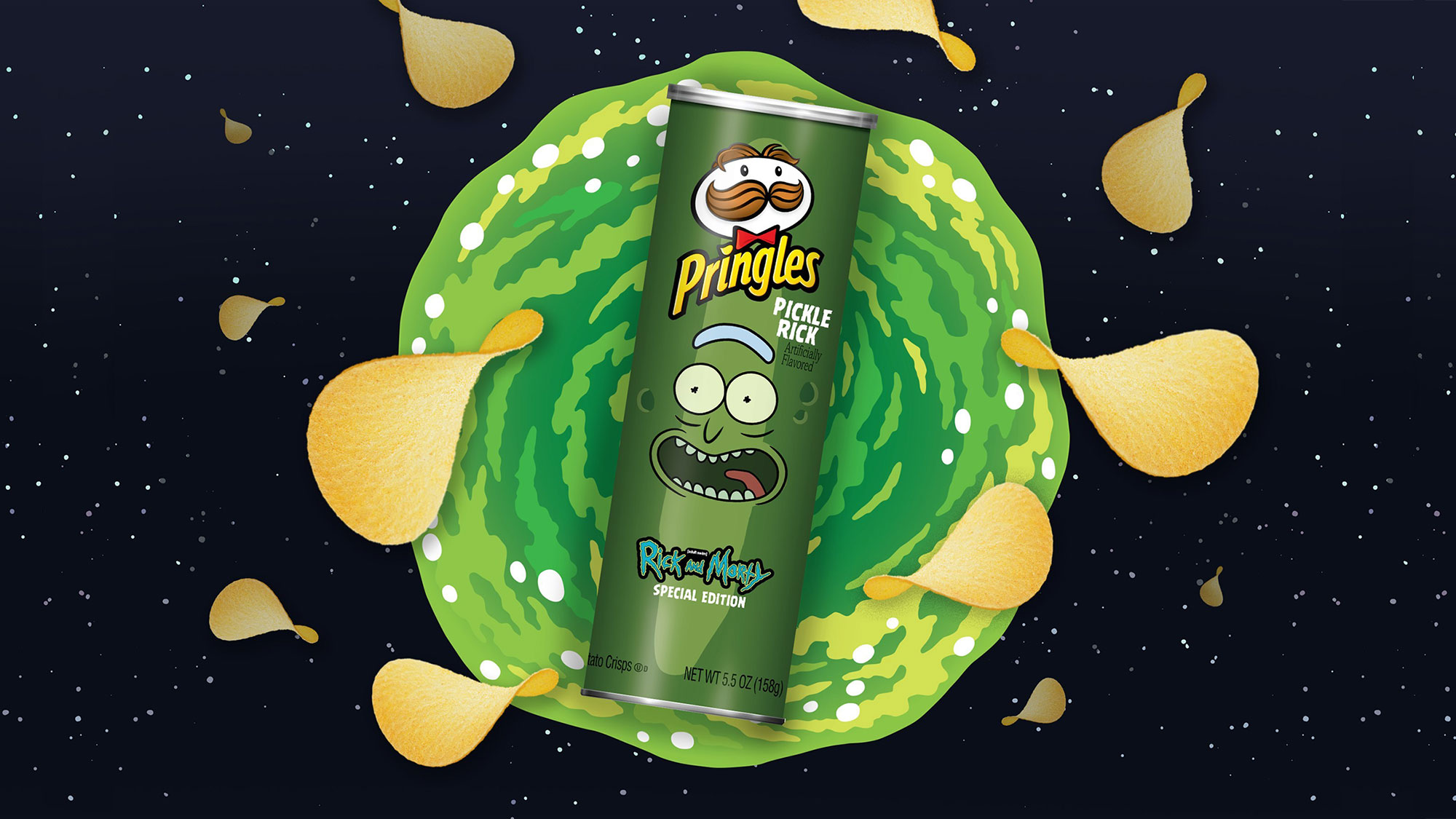 A Special Edition Rick And Morty Pringles Inspired By Pickle Rick Episode Is Coming Your Way