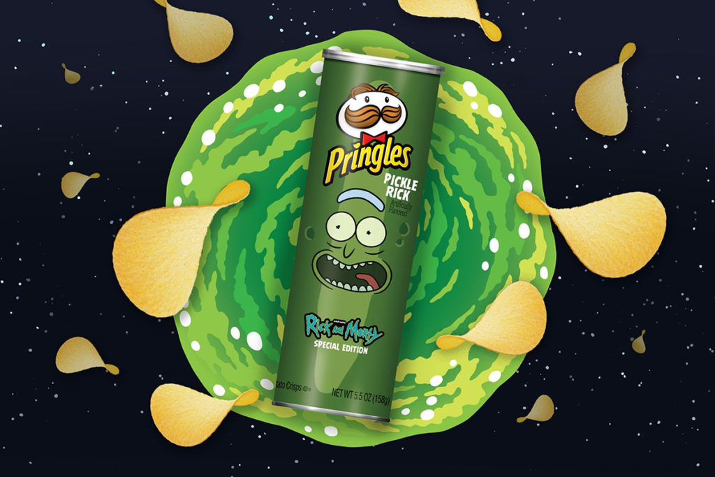 Pringles Pickle Rick Potato Chips