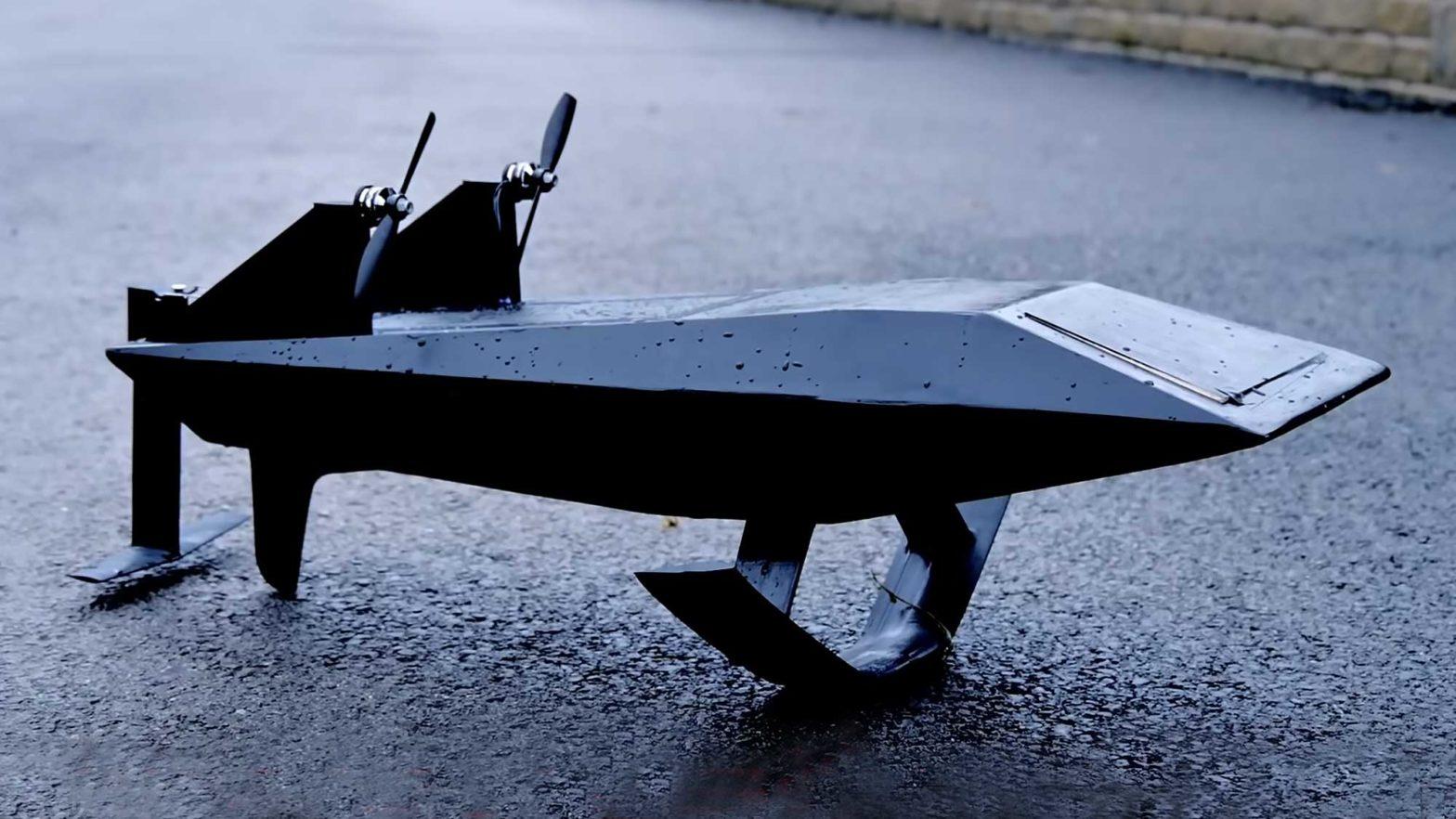 RC Hydrofoil Looks Like Cybertruck Boat