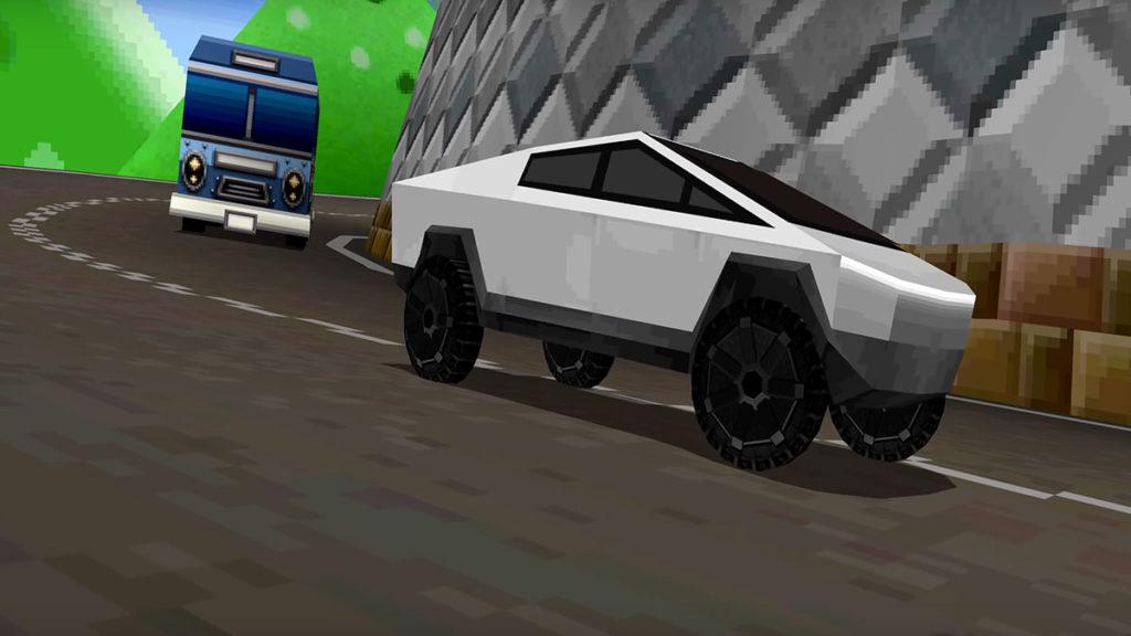 Tesla Cybertruck in Mario Kart DS
