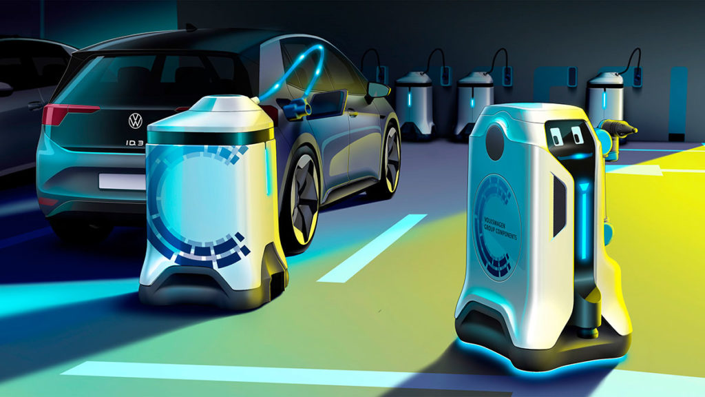 Volkswagen EV Mobile Charging Robots