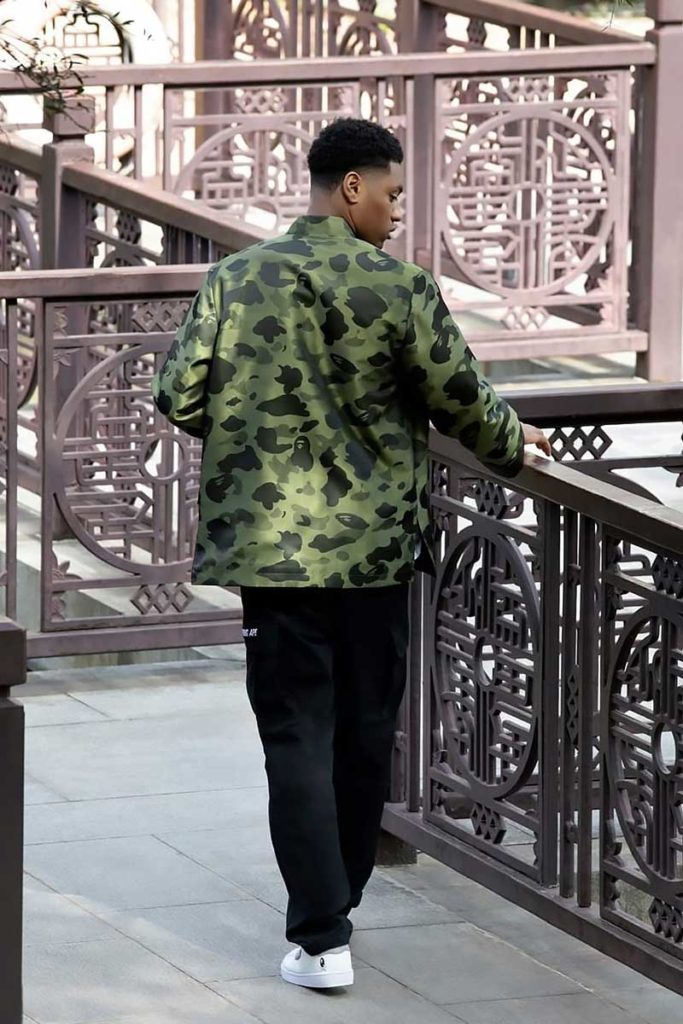 BAPE 1st Camo Print Brocade China Jacket
