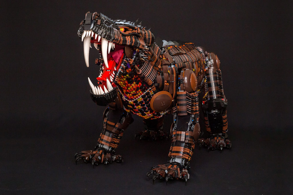 "Custom LEGO 'Fire Gorgon"" by Andrew Steele"