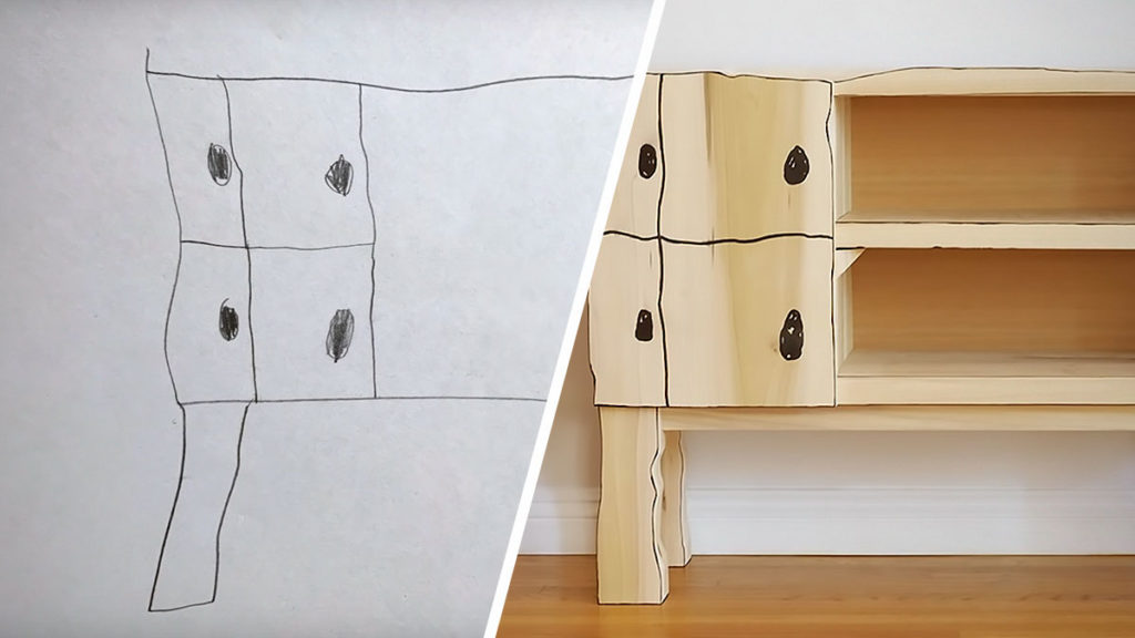 Dad Turns Son's Drawing Into Real Furniture