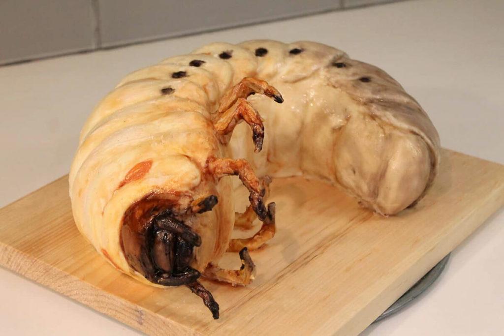 Deviant Desserts Hercules Beetle Grub Cake