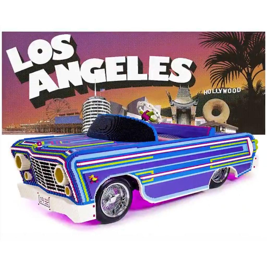Drivable LEGO Low-rider at LA Auto Show 2019
