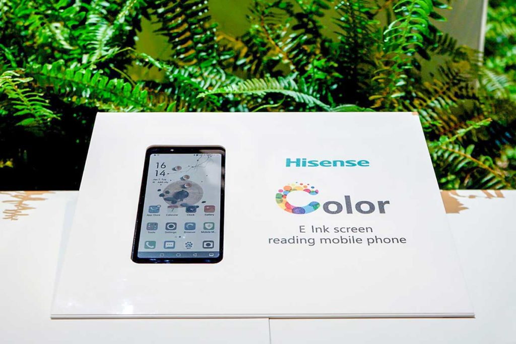 HiSense Color E-ink Display Smartphone
