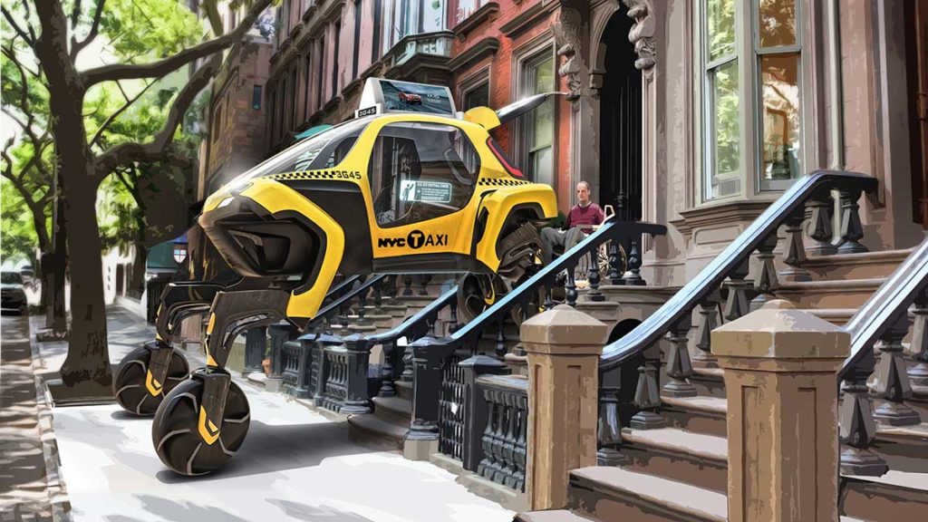 Hyundai CRADLE Elevate Walking Car Concept