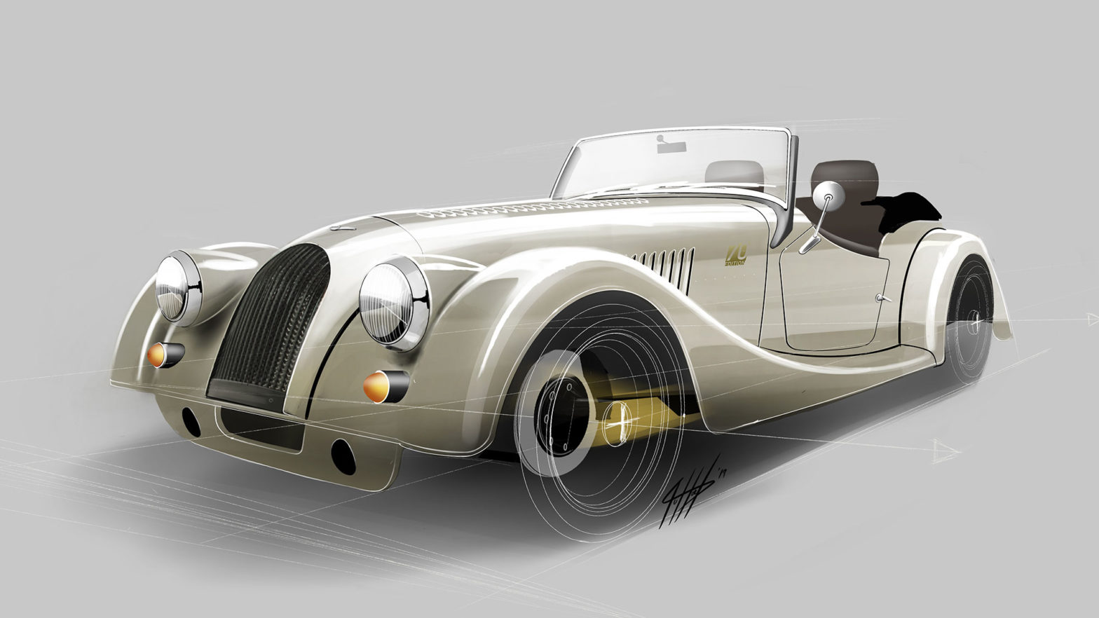 Morgan Plus 4 70th Anniversary Edition Model