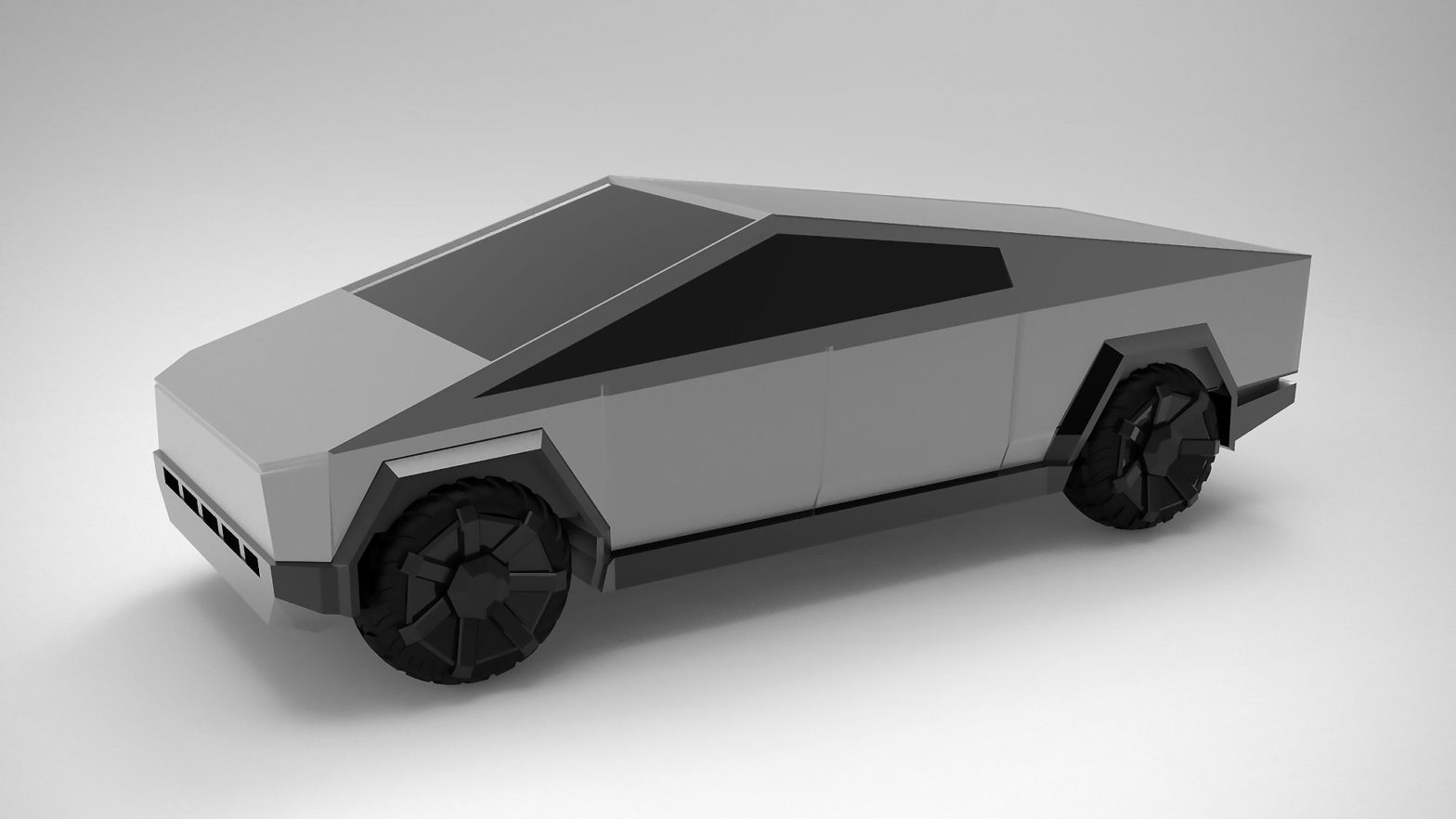 Tesla Cybertruck 3D Printed Fan Model