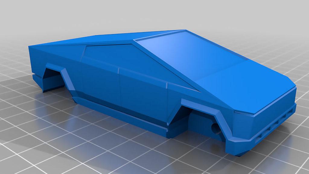 Tesla Cybertruck 3D Printed Fan Model