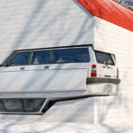 Artist Reimagined Winter Cabin With Volvo 240s Embedded In It Because, He Can