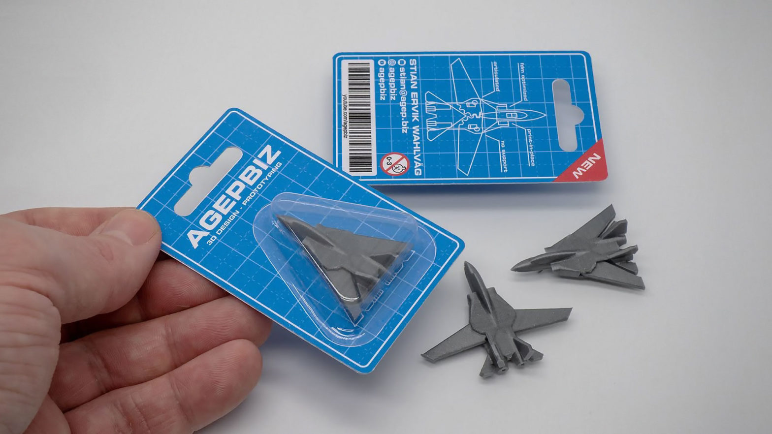 3D Printed Jet Fighter Business Card by agep