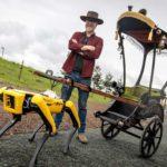 Adam Savage Built A Steampunk Rickshaw For Boston Dynamics' Spot To Haul Him Around