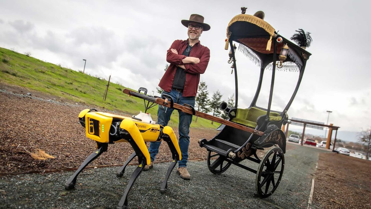Adam Savage's Spot Robot Rickshaw Carriage