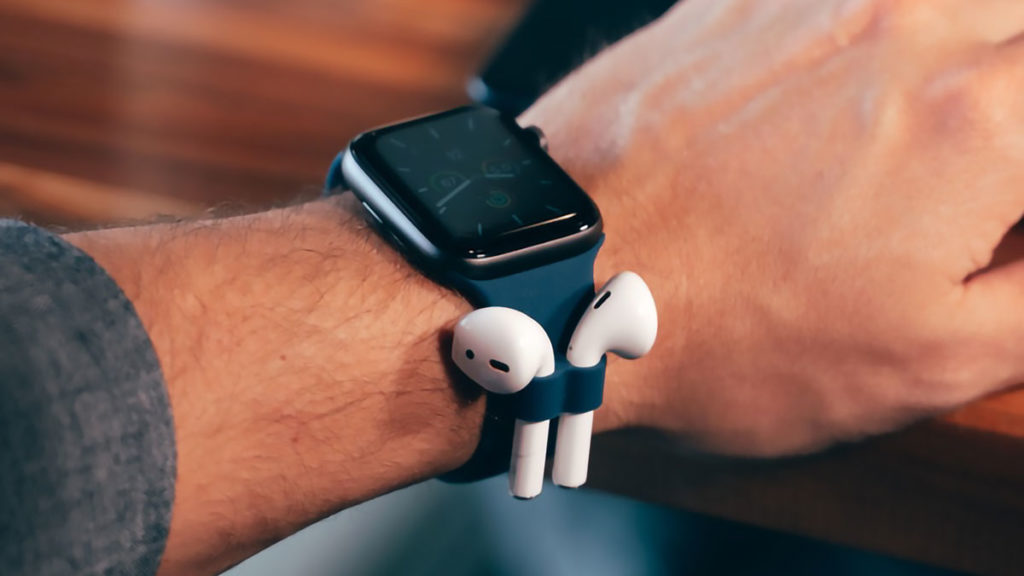 Apple Watch Band with AirPods Holder